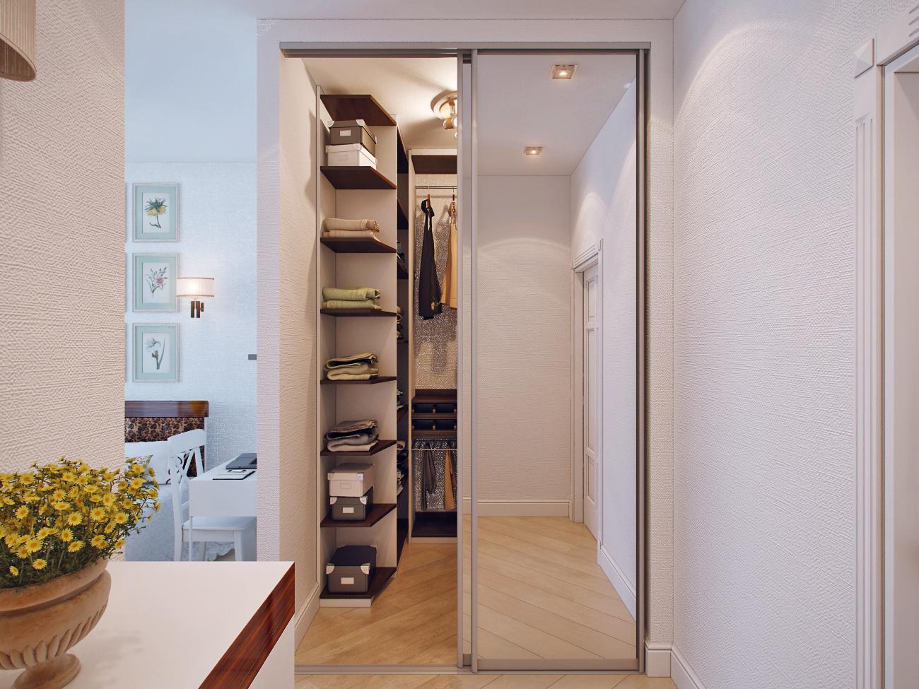 гардеробная 2 кв м в спальне