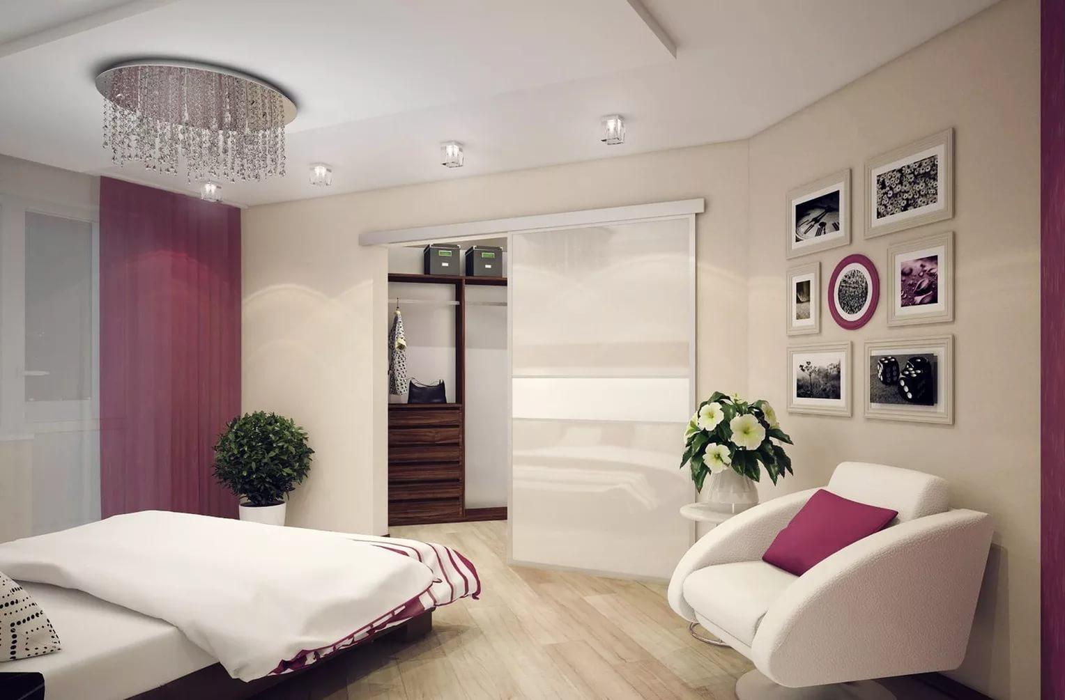 гардеробная в спальне обзор