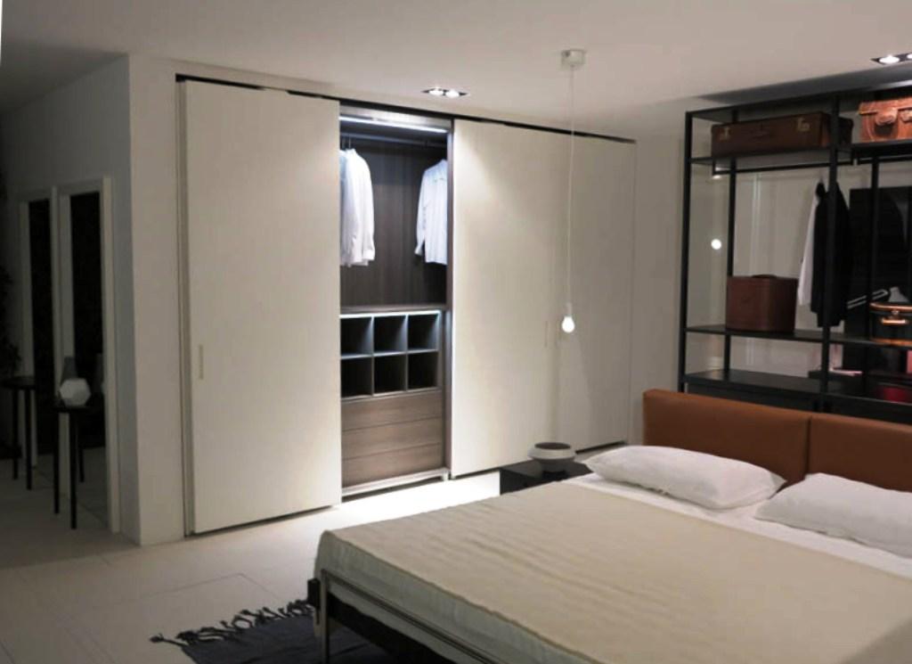 гардеробная в спальне освещение