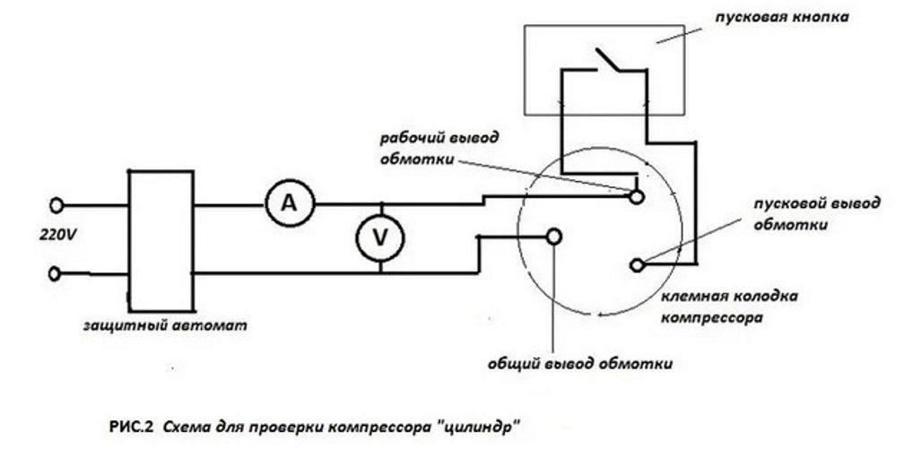 схема компрессорного холодильника