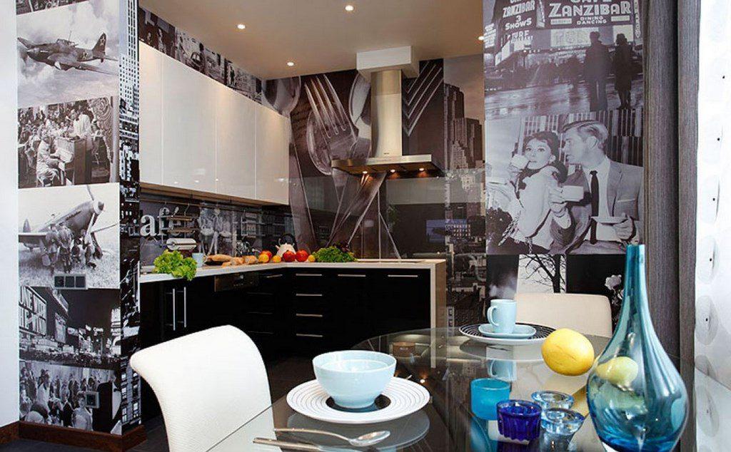 кухня в стиле кафе декор фото