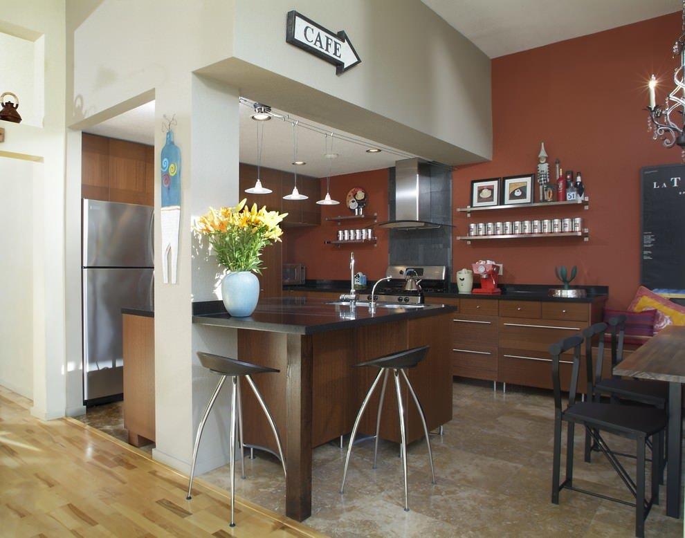 кухня в стиле кафе фото дизайн