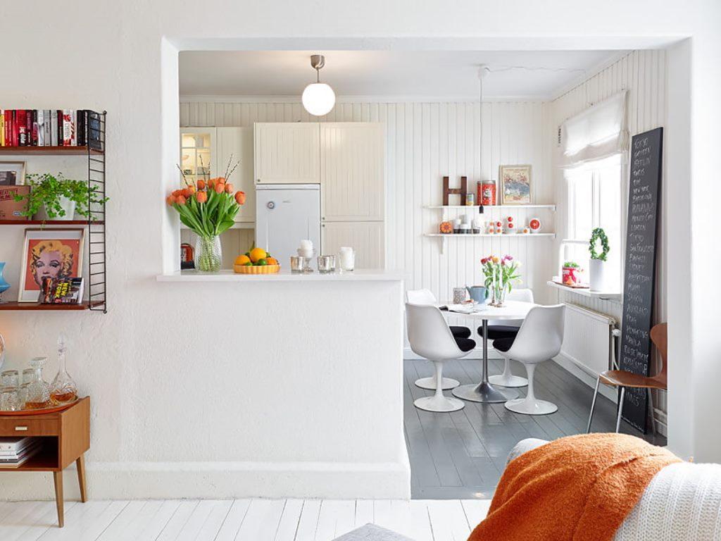 кухня в стиле кафе фото интерьер
