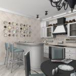 кухня в стиле кафе и бара декор идеи