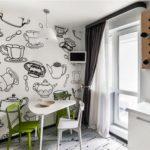 кухня в стиле кафе и бара фото интерьер