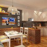 кухня в стиле кафе и бара виды фото