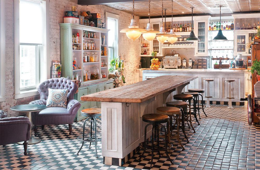 кухня в стиле кафе оформление