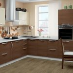 кухня ванильного цвета фото