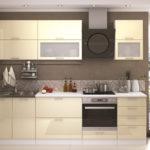 кухня ванильного цвета фото интерьер