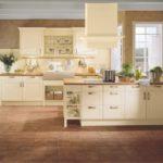 кухня ванильного цвета оформление идеи