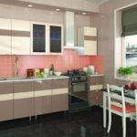 кухня ванильного цвета виды
