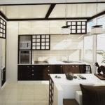 кухня ванильного цвета фото видов