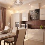 кухня ванильного цвета виды идеи