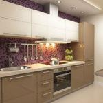 кухня ванильного цвета виды дизайна
