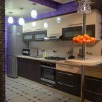 кухня ванильного цвета виды декора