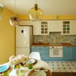 кухня ванильного цвета виды оформления