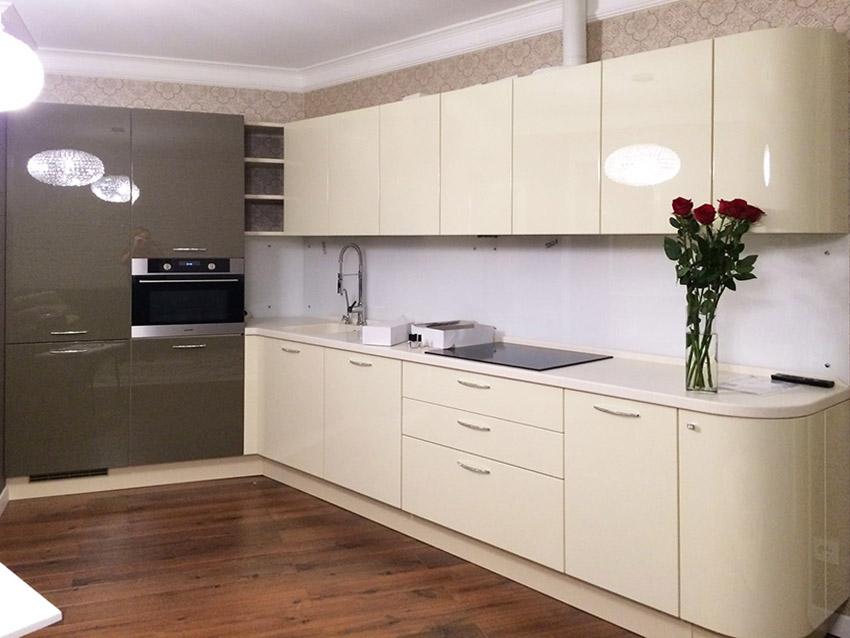 кухня ванильного цвета идеи интерьер
