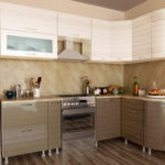 кухня ванильного цвета дизайн фото