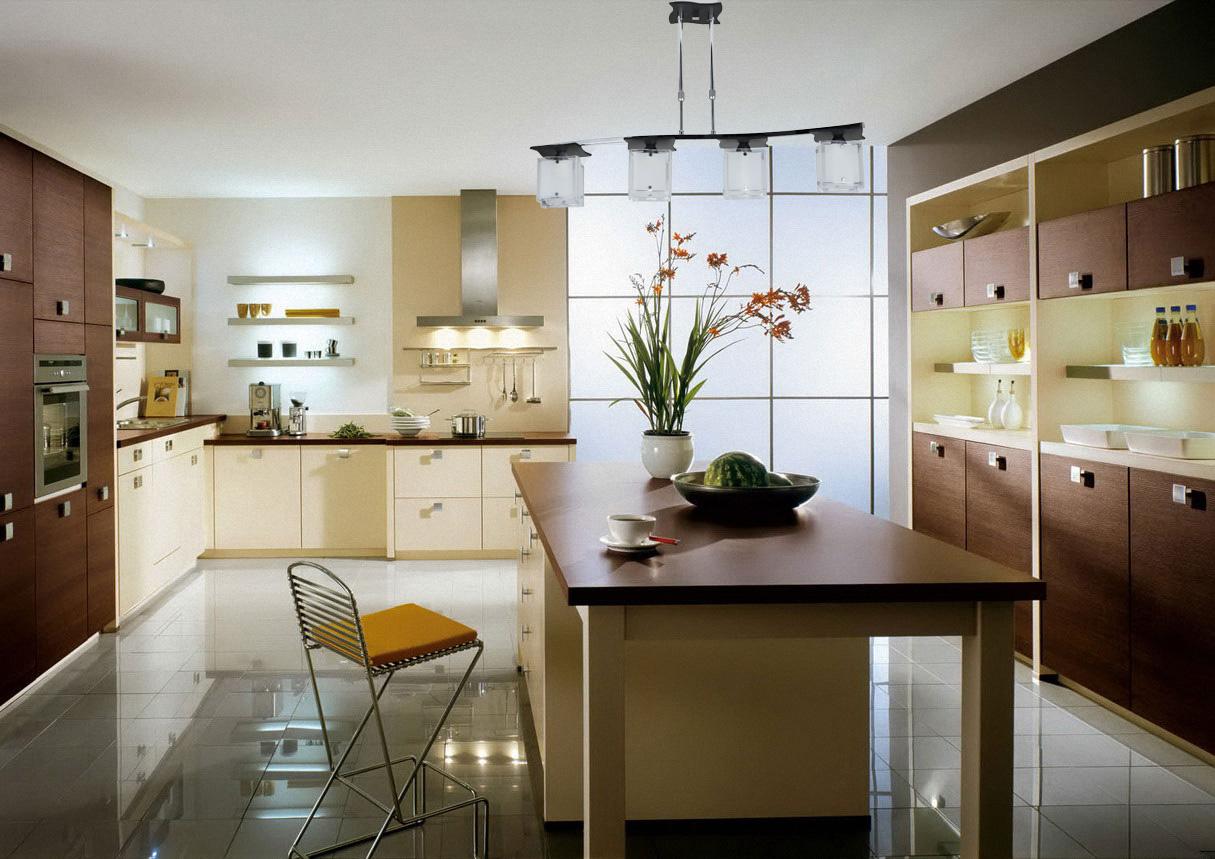 кухня ванильного цвета фото декора