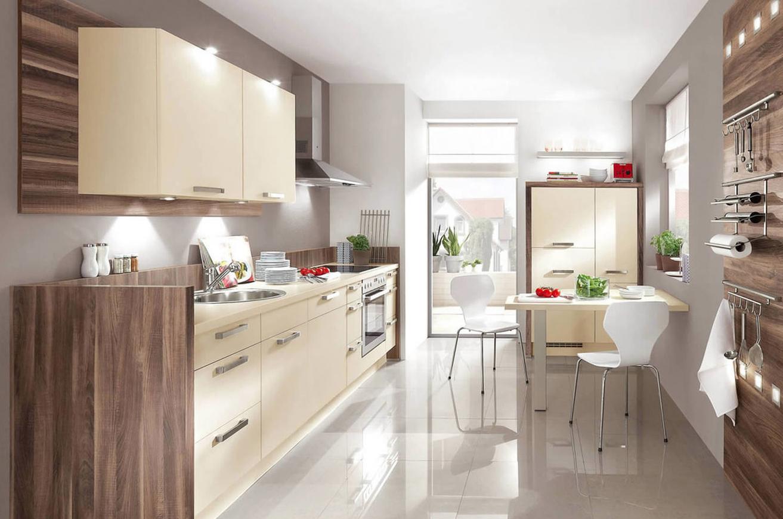 кухня ванильного цвета фото дизайна