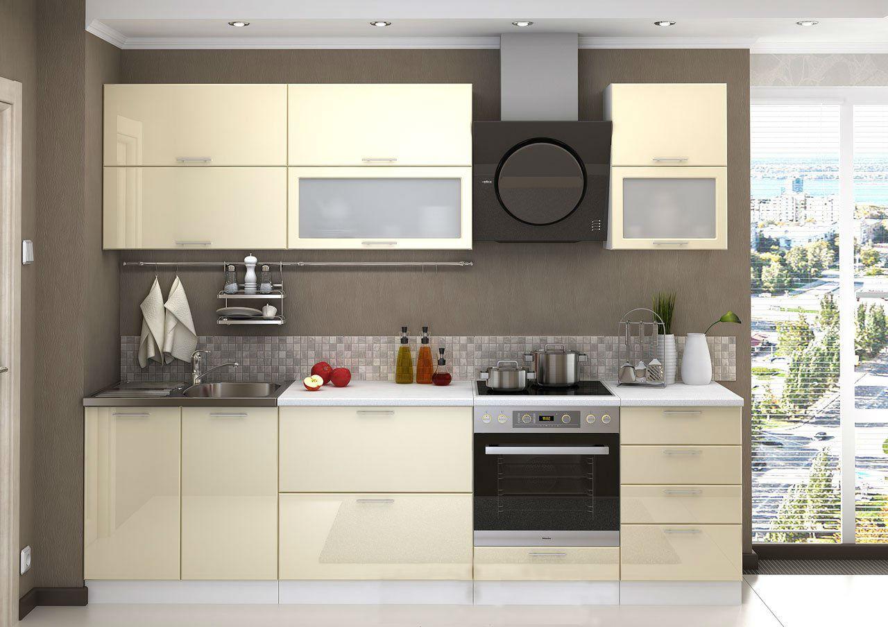 кухня ванильного цвета фото виды