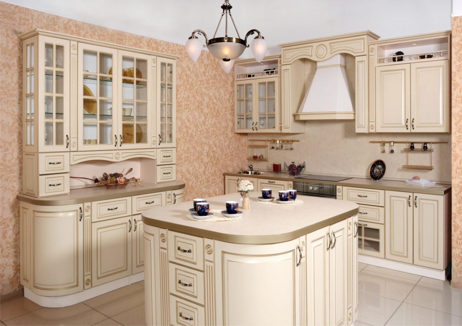 кухня ванильного цвета оформление