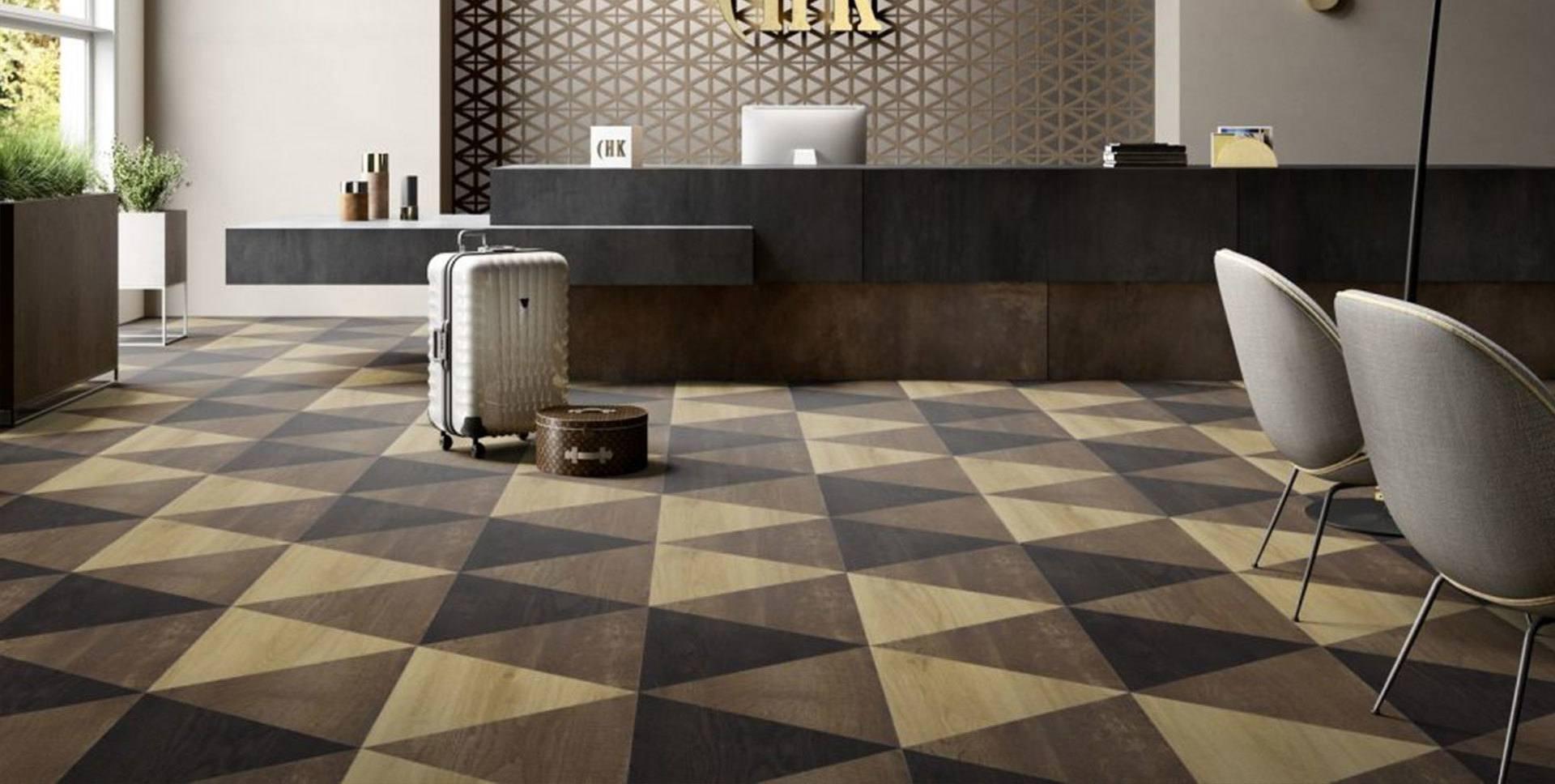 кварц-виниловая плитка в холле