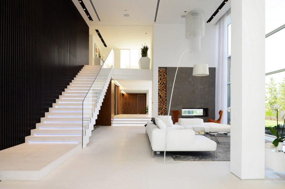 лестница на второй этаж в частном доме идеи фото