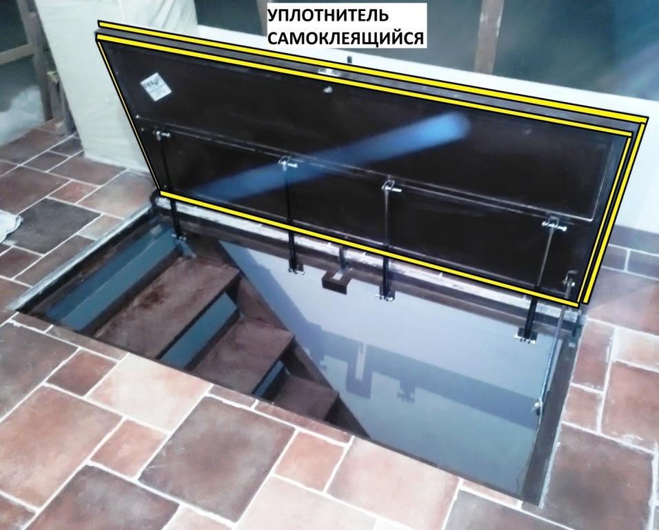 люк в подвал с уплотнителем