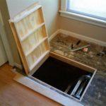 напольный люк в подвал отделка