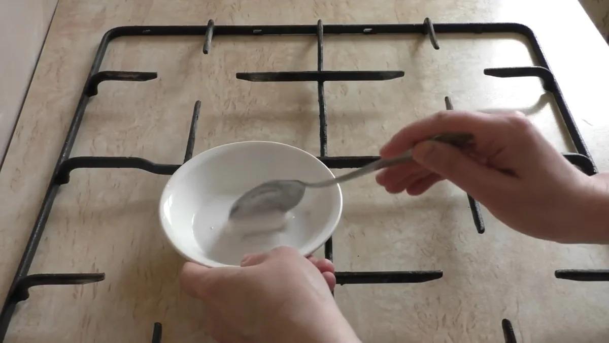 очистка решетки содой