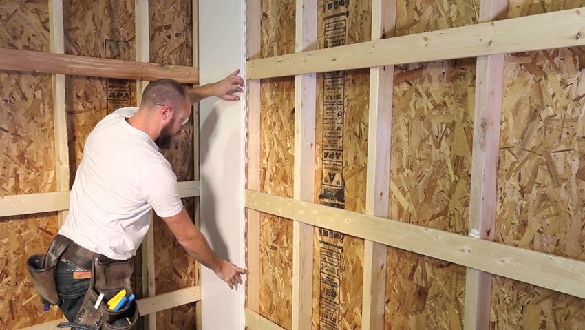 отделка стен панелями мдф на каркасе