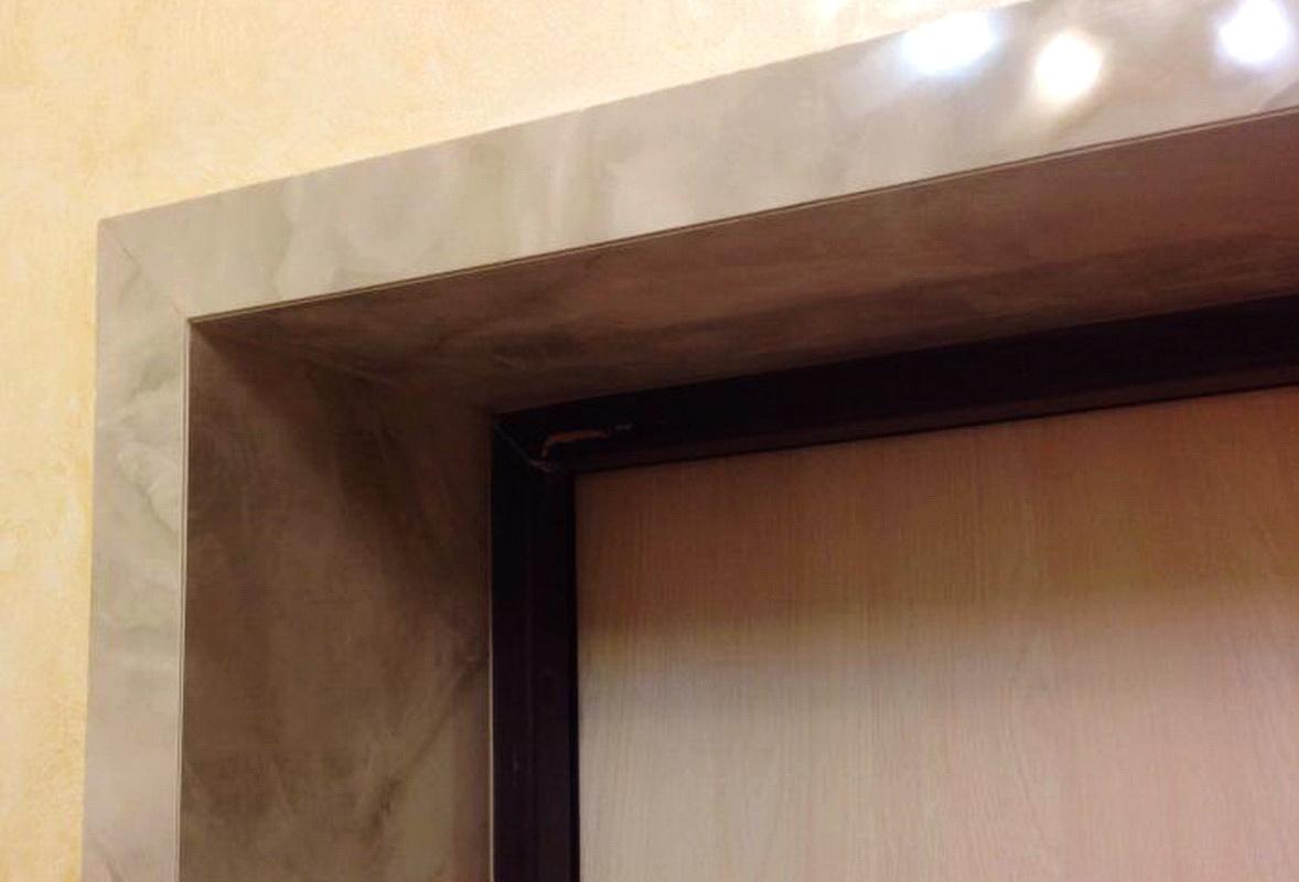 откосы для входных дверей из керамогранита