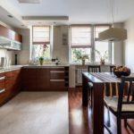плитка для кухни с ламинатом