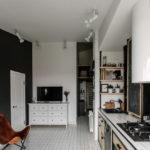 потолок в стиле лофт белый