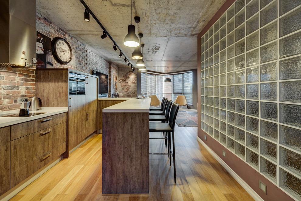 потолок в стиле лофт бетонный