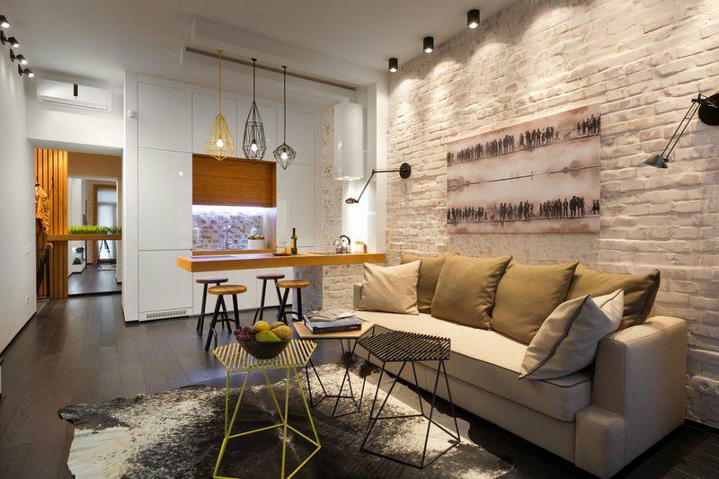 потолок в стиле лофт идеи фото