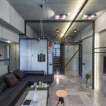 потолок в стиле лофт серый