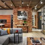 потолок в стиле лофт в квартире интерьер