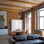 потолок в стиле лофт в квартире фото интерьер