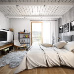 потолок в стиле лофт в квартире фото интерьера