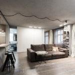 потолок в стиле лофт в квартире интерьер идеи