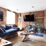 потолок в стиле лофт в квартире дизайн фото