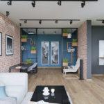 потолок в стиле лофт в квартире фото дизайна