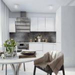 современная белая кухня интерьер
