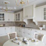 современная белая кухня оформление идеи