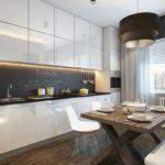 современная белая кухня фото вариантов