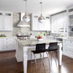 современная белая кухня фото видов