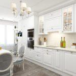 современная белая кухня фото дизайна