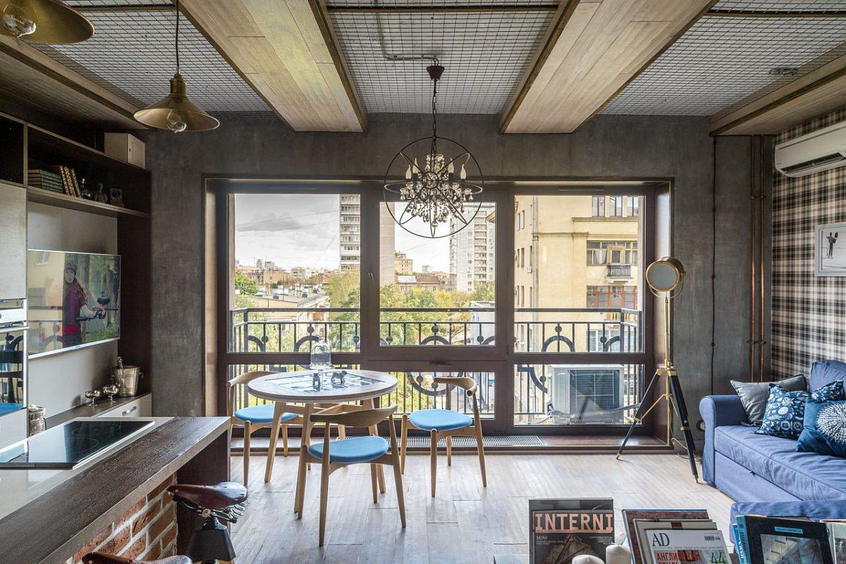 лофт в интерьере квартиры студии